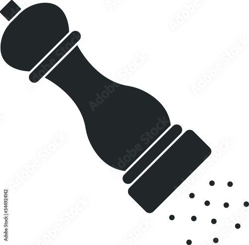 Canvastavla pepper mill vector isolated icon