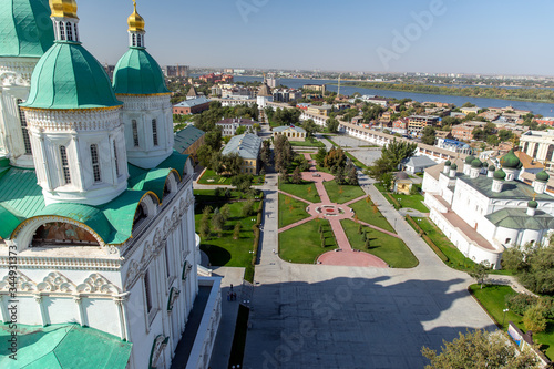 Assumption Cathedral and the bell tower of the Astrakhan Kremlin Canvas Print