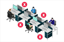 Social Distancing At Office Wo...