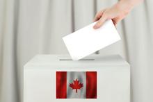 Canadian Vote Concept. Voter H...