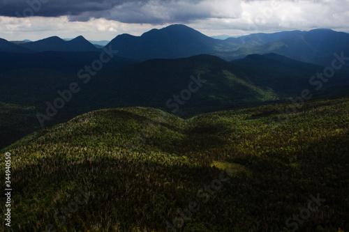 Rainstorm mountain landscape