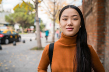 Portrait Of Young Asian Woman ...