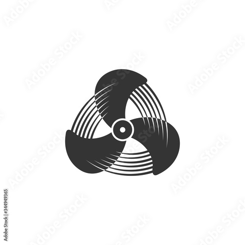 Propeller icon, Aircraft propeller icons, symbols fan rotating isolated on a white background Wallpaper Mural