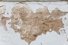 Decaying Plaster On White Wall