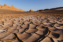 Dry Mud In The Desert