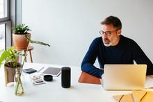 Man Working In A Modern Office.