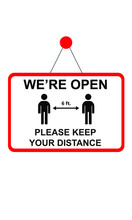 We Are Open Please Maintain Sa...