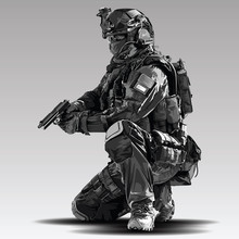 Vector Policeman Tactical Shoo...