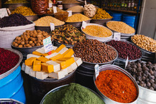 Stall Of Spices, Dried Fruit A...