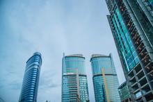 Steely Blue Skyscrapers In Dow...