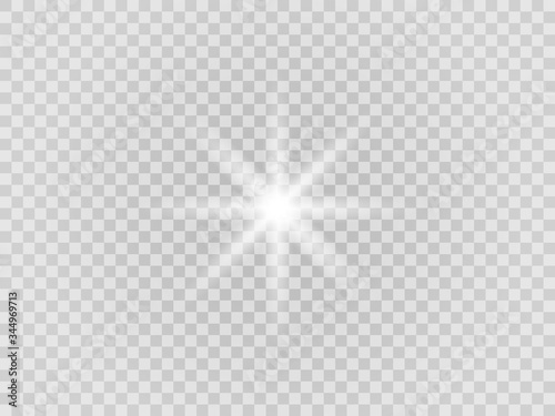 Photographie Vector png glowing light effect