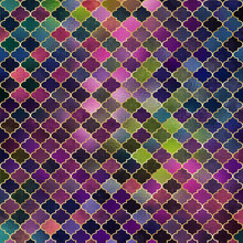 Mosaic Quatrefoil Design - Cute Shiny Quatrefoil Pattern In A Variety Of Colors