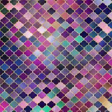 Mosaic Quatrefoil Design - Cute Shiny Quatrefoil Pattern In A Variety Of Colors