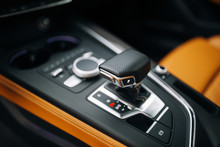 Handle Of Supercar Automatic Transmission Shift Stick
