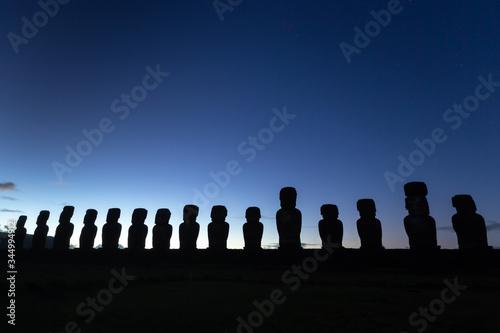 Moais of Ahu Tongariki, Easter island, Chile Canvas Print