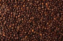 Fried Coffee Grains Background