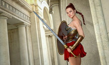 Beautiful Woman Gladiator