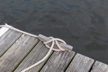 Weathered Wood Boat Dock With ...