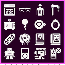 Set Of 16 Expand Filled Icons