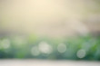 Abstract background of white bokeh on a light green background