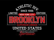 Typography Vintage, Brooklyn T...
