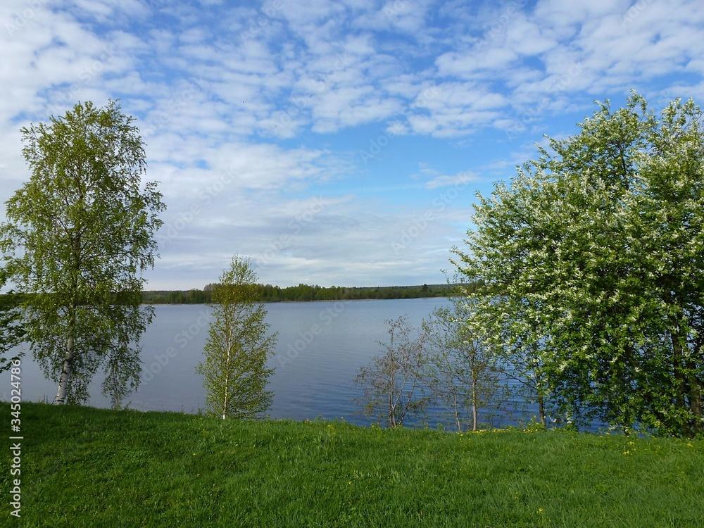 Fototapeta Landscapes of the Bayou of lake Ladoga near Kizhi island