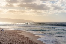 Beautiful Shot Of Big Waves In North Shore, Oahu, Hawaii