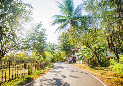 Streets of Santa Catalina, Panama, Central America  - 345027770