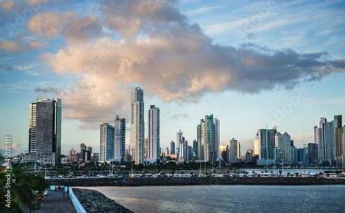 Panama city coastline landscape, Panama, Central America  - 345028313