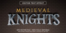 Editable Text Effect - Medieva...