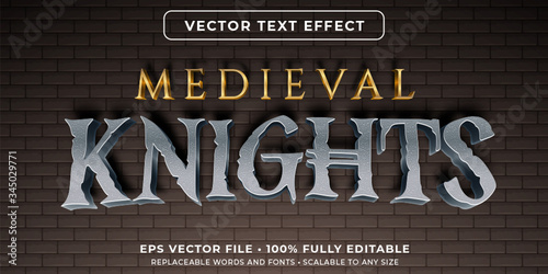 Fotografia Editable text effect - medieval style