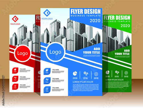 Fototapety, obrazy: Business abstract vector template. Brochure design, cover modern layout, annual report, poster, flyer in A4 with colorful triangles, geometric shapes for tech, science, market with light background