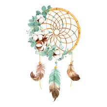 Watercolor Boho Dream Catcher ...