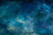 Dark And Light Blue Oil Painti...