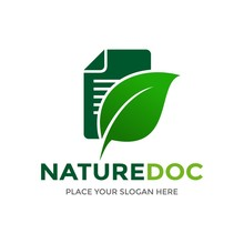 Nature Document Vector Logo Te...