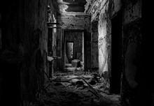 Scary Black And White Corridor...