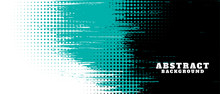 Abstract Grunge Texture And Halftone Banner Design