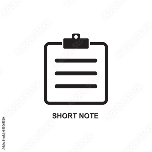 Fotografering SHORT NOTE ICON , MEMO ICON