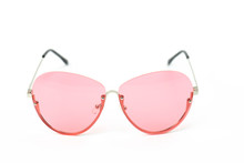 Pink Vintage Glasses Isolated ...