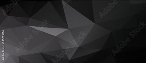 背景素材:アブストラクト 三角 三角形 トライアングル 抽象的 パターン 幾何学模様 氷 クリスタル - 345079184