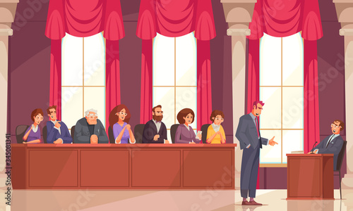 Fototapeta Jury Law Justice Composition