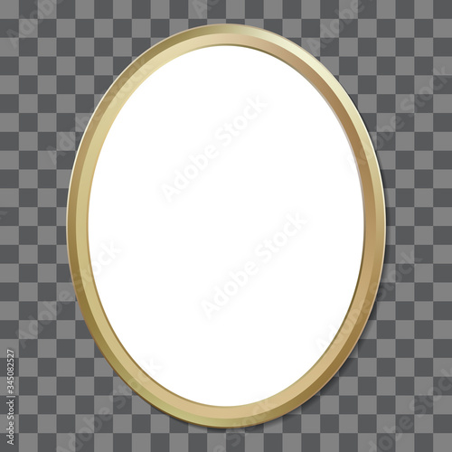 Foto Oval golden picture frame