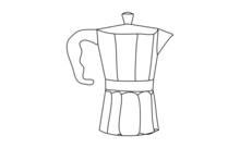 Doodle Drawing Art Of A Moka Pot