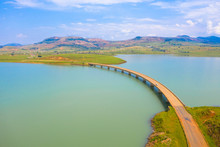 The Banana Bridge, So Named Because Of It's Curvature, Over The Woodstock Dam In South Africa
