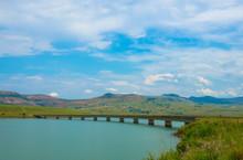 The Road Bridge Over The Tugela River Below Woodstock Dam Wall Near Bergville In The Kwazulu-Natal Province