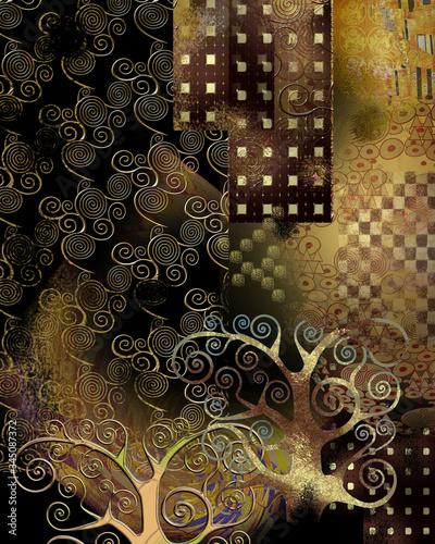 tlo-w-stylu-klimta-ksiazka-ilustracja-do-tapety-transparent-tlo-karty-mural-ilustracja-strona-docelowa-okladka-afisz-plakat-baner-ulotka