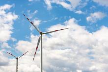Wind Generator Against The Sky...