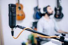 Microphone In Recording Studio...