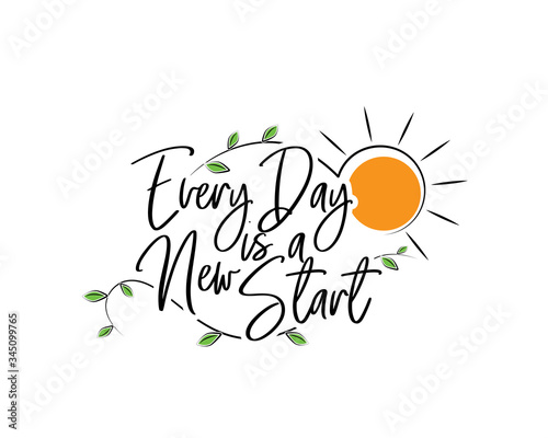 Every day is a new start, vector Canvas Print
