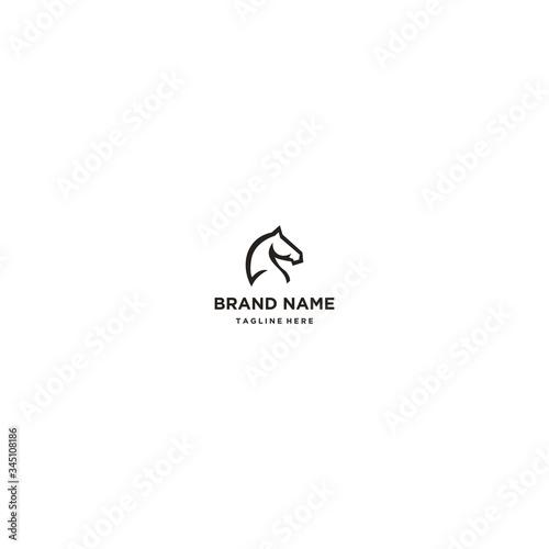 Carta da parati Horse logo template design in Vector illustration and logotype